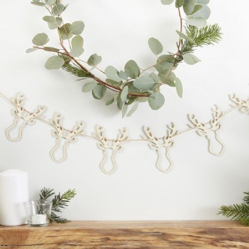 Wooden Stag Bunting